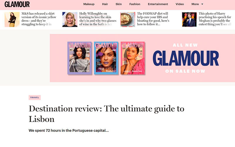 Glamour Magazine Cover - The ultimate guide to Lisbon